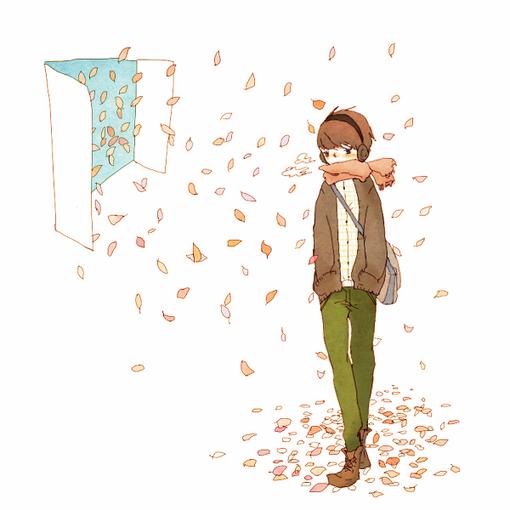 漫画,樱花在飞舞