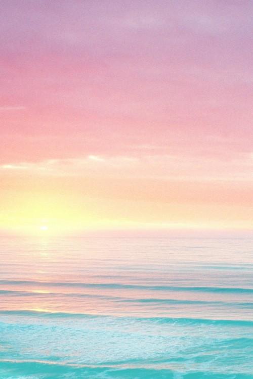 蓝色海边风景唯美手机壁纸