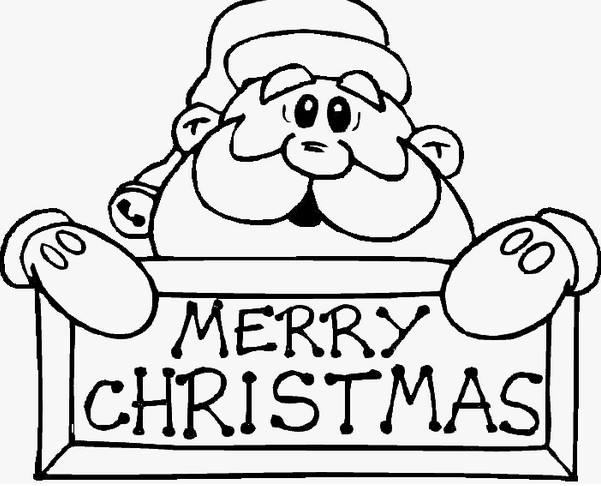 圣诞老人简笔画图片大全 画画圣诞老人
