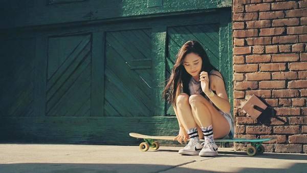 高孝周lee_juae,韩国长板滑手(认真的女生最美)