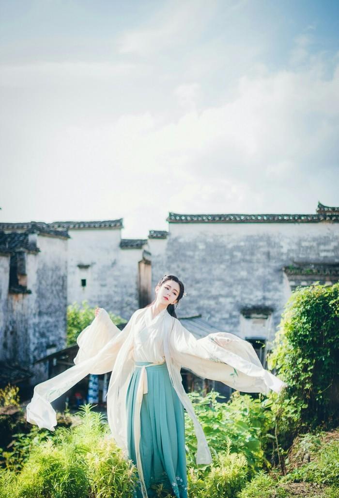 花鸟风月,古风汉服图片素材