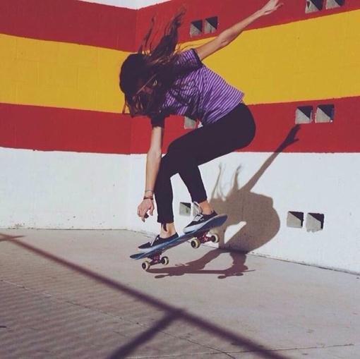 欧美滑板女生