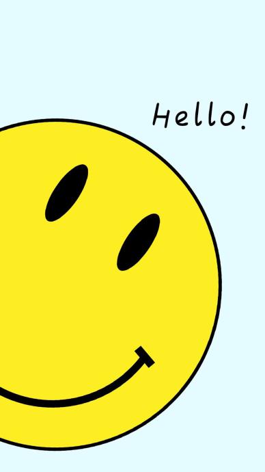 可爱创意黄色表情手机壁纸