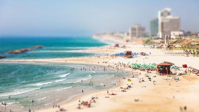 唯美的海边移轴摄影