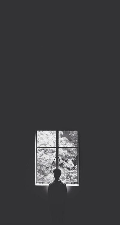 孤单的男生背影背景手机壁纸