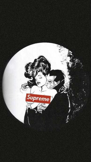 superme黑白手机壁纸
