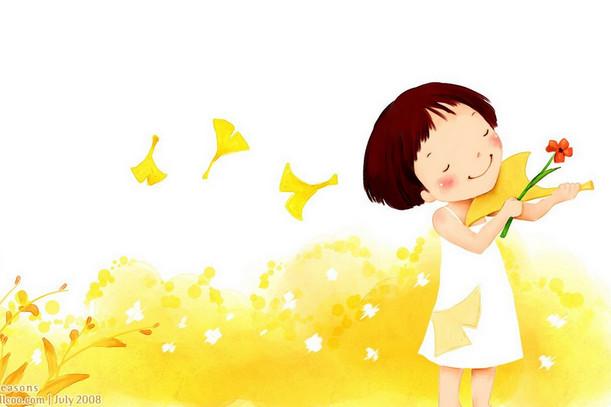 韩国经典儿童插画 可爱小女孩