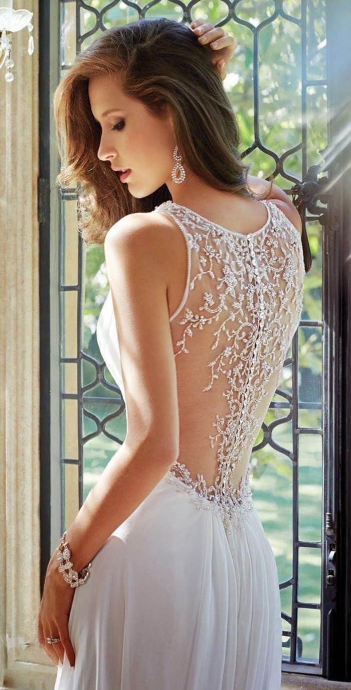 欧美婚纱,美背