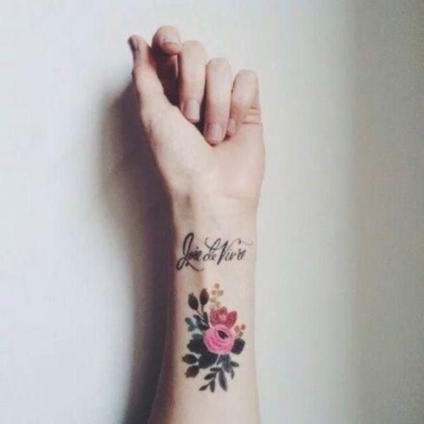 漂亮的女生小清新简洁纹身图案