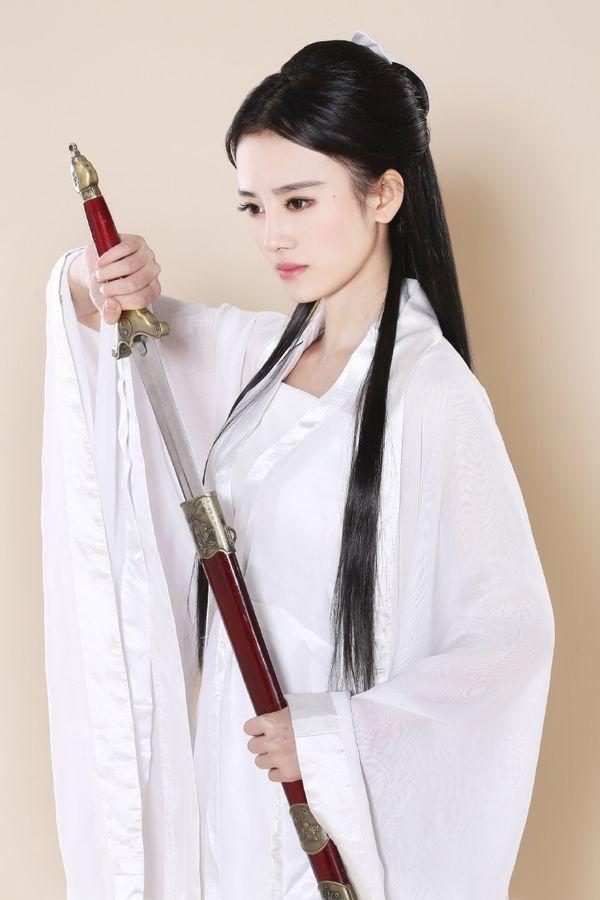 四千年第一美女鞠婧祎小龙女写真手机壁纸