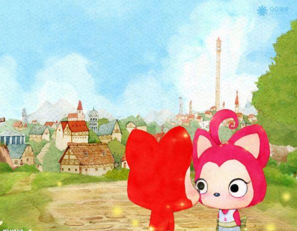 可爱图片,阿狸和桃子的纯纯爱恋