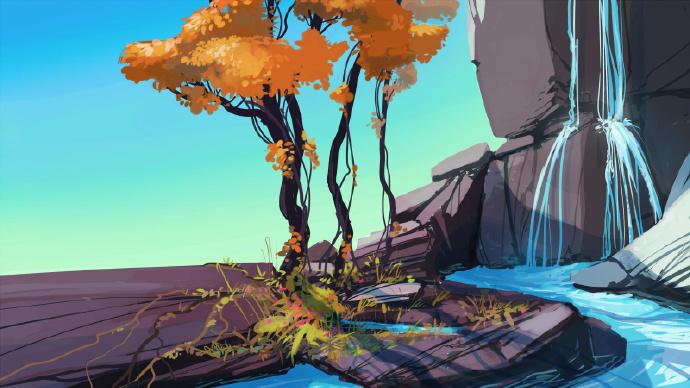 一组色调超美的自然风景插画 ,来自Alexey Shirokikh