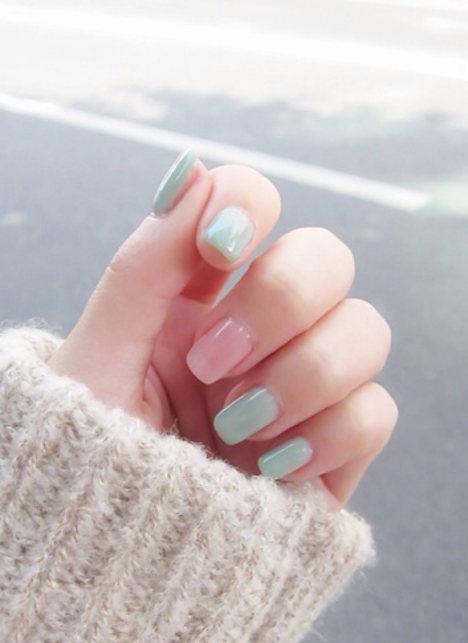 小清新干净的美丽指甲