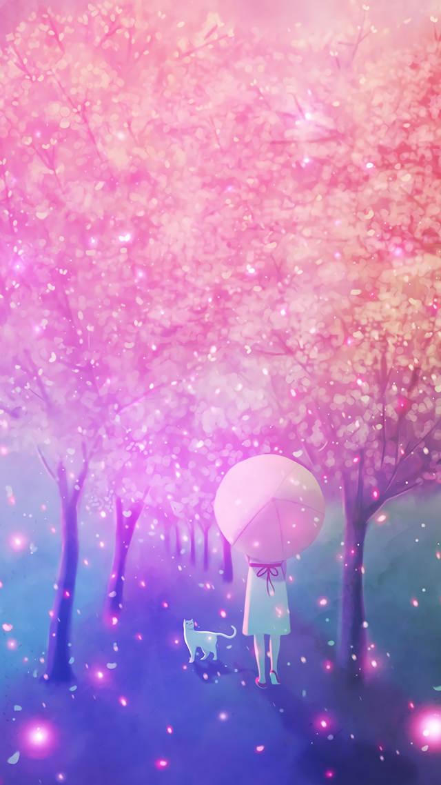 唯美粉色少女系动漫图片手机壁纸