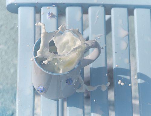 蓝色唯美意境可爱图片