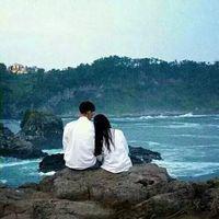 森系情头双人两张_韩版情侣头像一对唯美