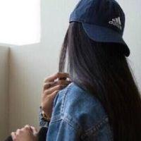 戴帽背影女头_韩系长发女生伤感