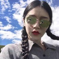 墨镜控的个性女头_女生戴太阳镜