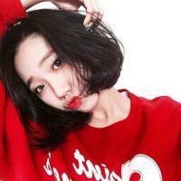 韩系女头短发 好看韩系短发半丸子头
