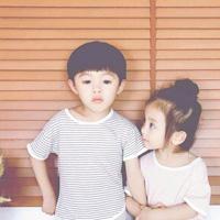 萌娃情侣头像一左一右 可爱小孩一对