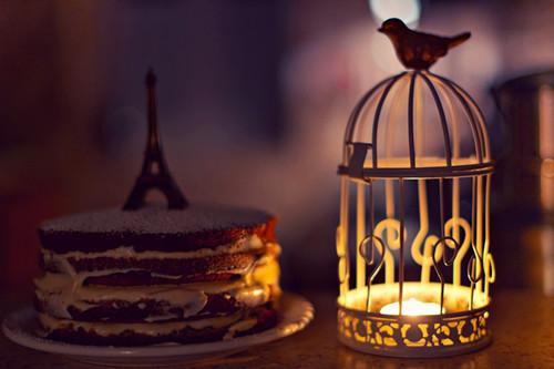 夜晚烛光唯美意境图片