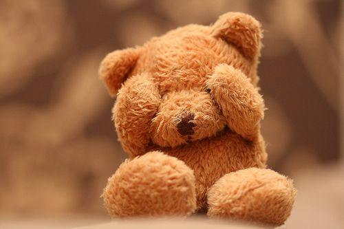 不要总是不快乐 唯美小熊图片