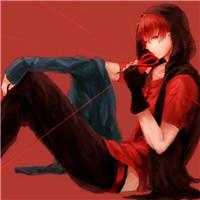 个性炫酷红色背景动漫男生头像精选