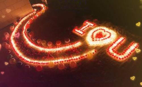 夜晚蜡烛唯美意境爱情表白图片