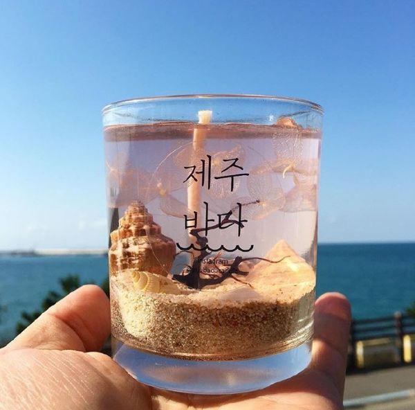 杯子里的唯美风景