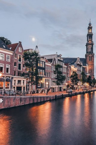 人文景观阿姆斯特丹唯美手机壁纸