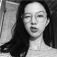 可爱萌萌哒的小女生,戴眼镜卖萌女生头像