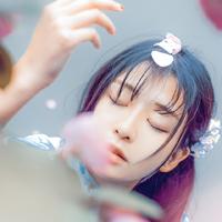 和服美女头像,花丛花季和服美女QQ头像图片
