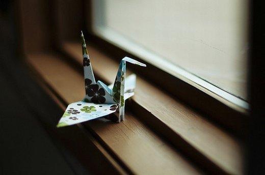唯美千纸鹤图片_怎么挽留 你说你累了