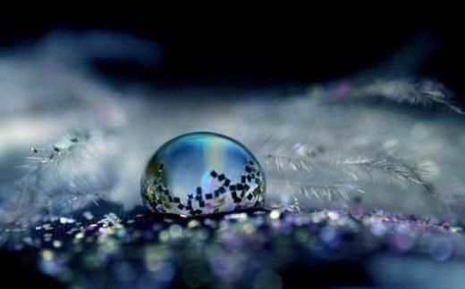 一滴水唯美意境图片