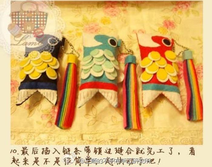 不织布手工制作日本鲤鱼旗教程图解