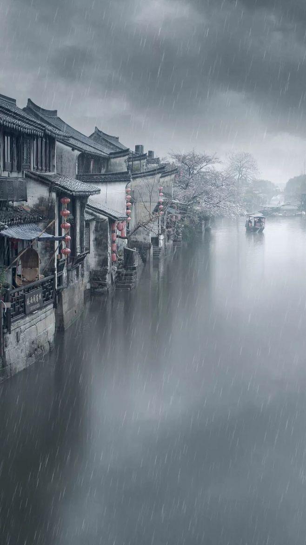 江南烟雨,唯美意境中国江南古镇壁纸