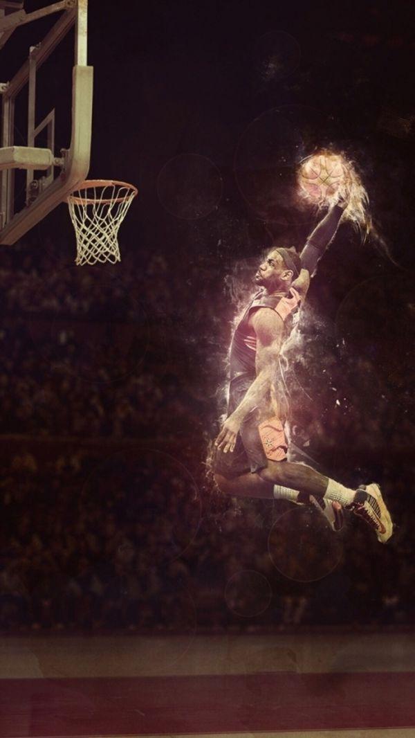 NBA球星大图壁纸,赛场上的王者