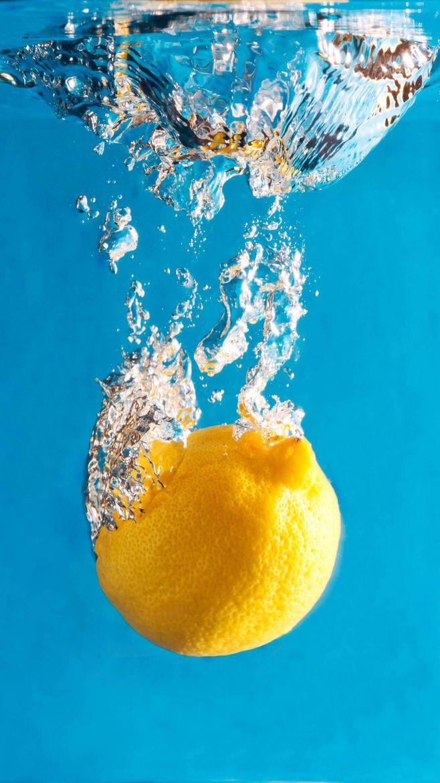 柠檬图片素材,晶莹剔透水元素