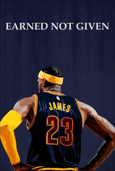 NBA球星勒布朗詹姆斯高清手机壁纸三