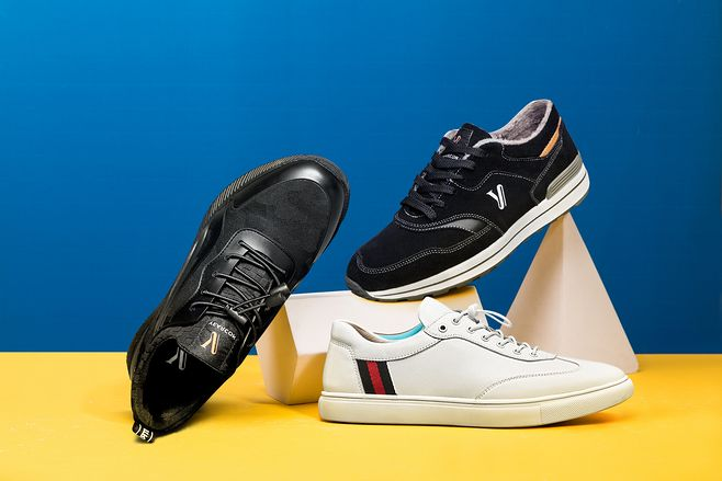 清新 简约 鞋子创意拍摄 海报背景