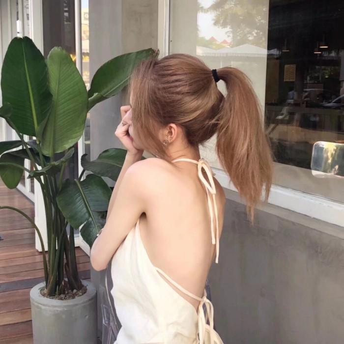 性感漏背装,女生漂亮头像