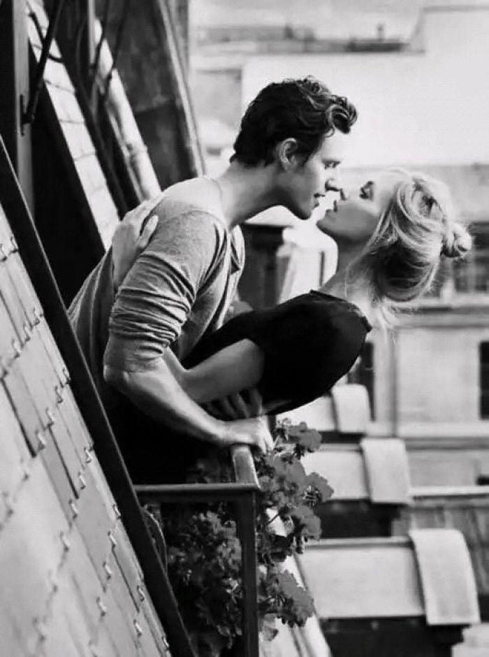 欧美图,欧美黑白情侣亲吻图片