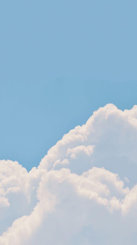 蓝天白云,简单简约的高清手机壁纸