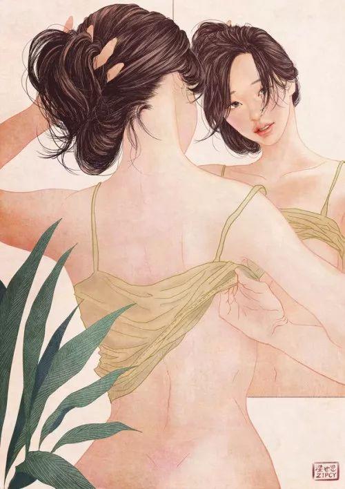 韩国美女插画师,Zipcy梁世恩的插画让人春心荡漾