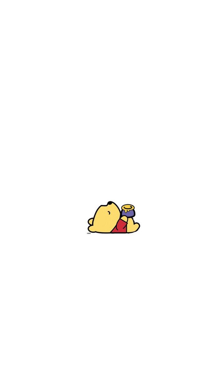 维尼熊小小可爱的手机壁纸