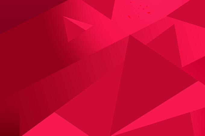 三角形拼接红色背景素材