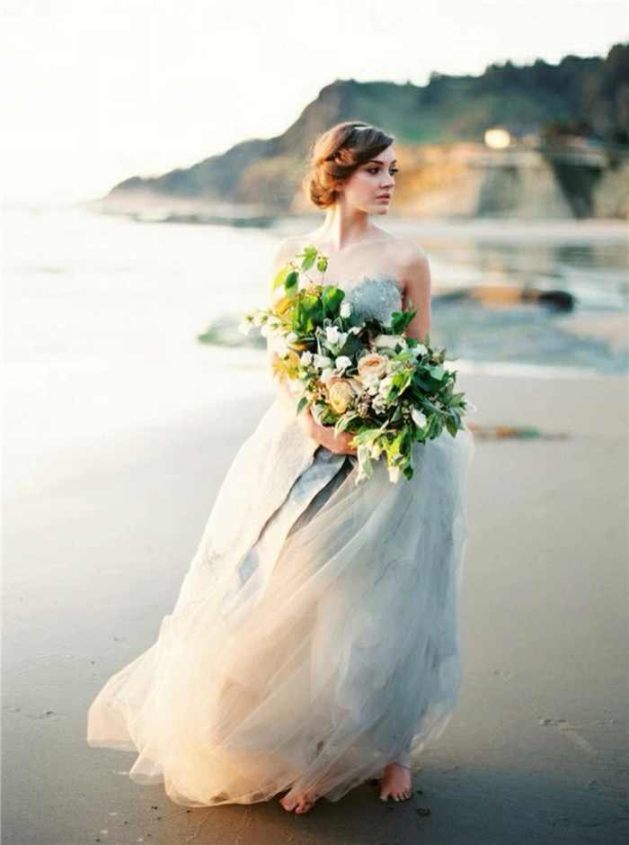 欧美唯美女生婚纱大图,意境婚纱图片