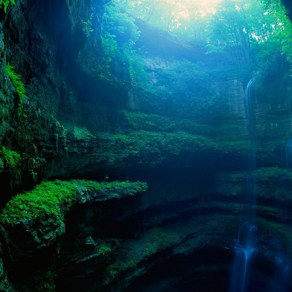 夏日自然风景绿色护眼图片