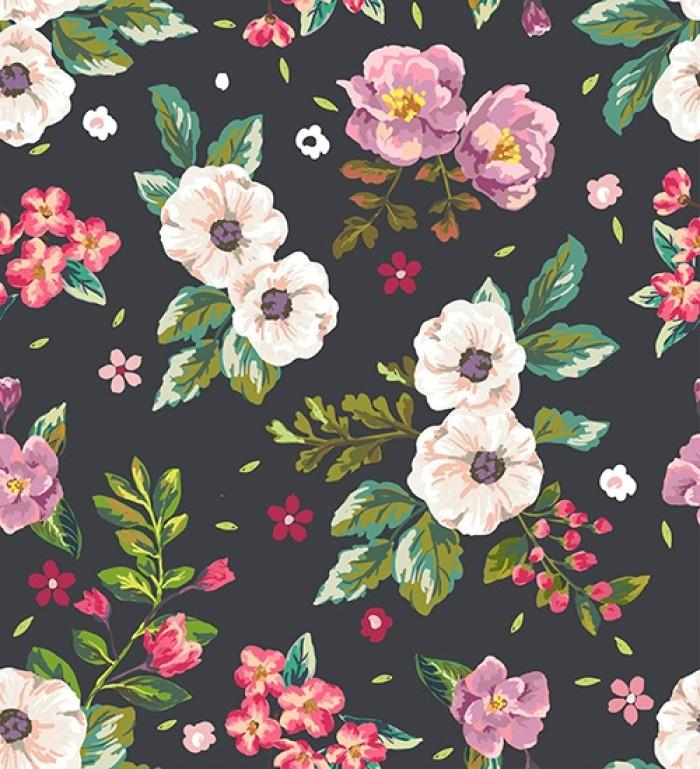 插画手绘 手机壁纸 水粉画 水彩 玫瑰 碎花
