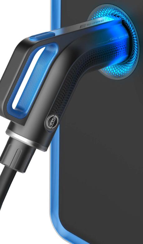 现代感设计的电动车充电器图片素材
